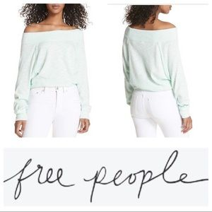 Free People Palisades Off the Shoulder Top Seafog